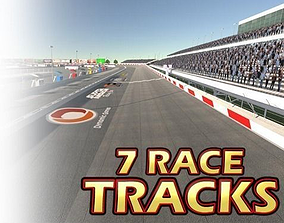 3D model Race Track Pack