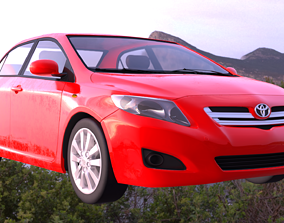 3D model Toyota Corolla 2008 altis