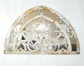 Vintage Arch Transom Mirror 3D model
