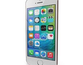 Apple iPhone SE Rose Gold 3D model