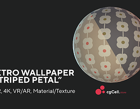 3D asset Retro wallpaper Striper petal Texture
