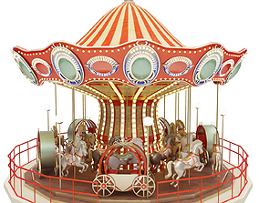 3D model carousel landscape