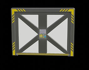 sci fi door 3D asset VR / AR ready