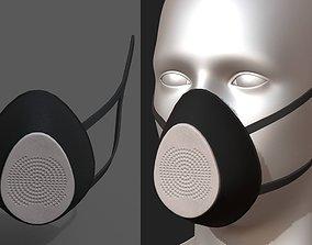 Gas mask respirator scifi technology 3D asset