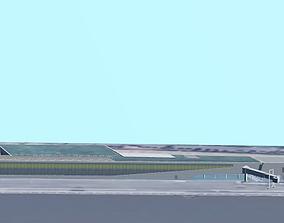 Hamburg Altona Cruise Terminal 3D model realtime