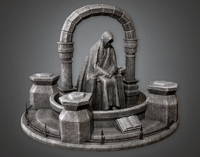CEM - Stone Statue Cemetery 1 - PBR Game Ready 3D asset
