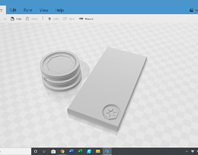 The Mandalorian Bounty puck and Beskar 3D printable model