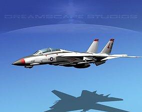 3D model Grumman F-14D Tomcat T02a VF143