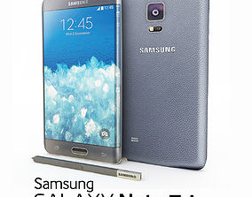 Samsung Galaxy Note Edge Black 3D