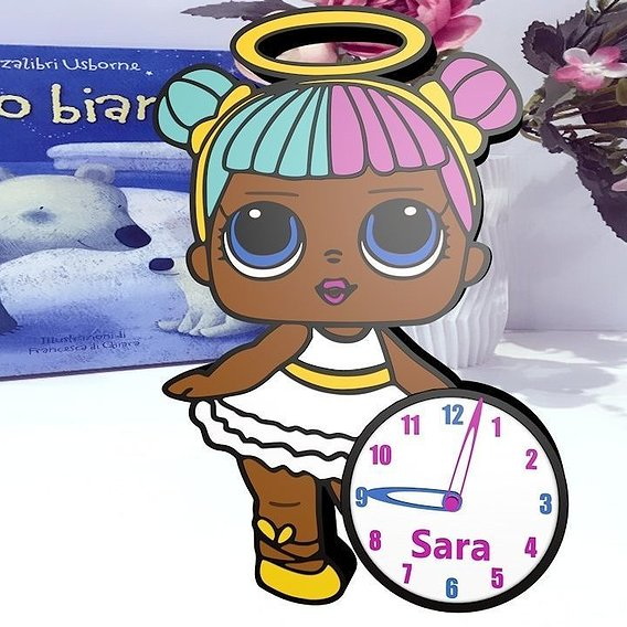 Clock inspired Doll's LOL 2-006 for silhouette alta (file stl)
