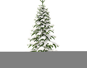 3D model Fir Tree with Snow 2point6m
