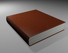 Book with cover and leather 3D model