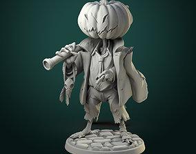 3D printable model Pumpkin Scarecrow 32mm - 75mm