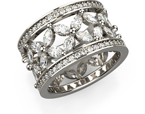 Diamond ring diamond 3D print model