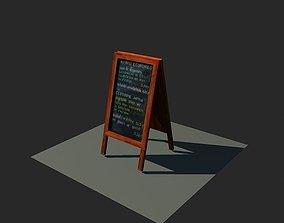 3D asset Menu Board