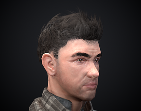 Male character 3D asset low-poly