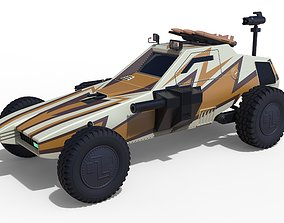 Dune buggy from movie Megaforce 1982 3D model
