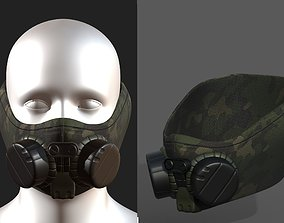 3D asset Gas mask helmet scifi fantasy armor hats military