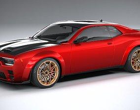3D Generic Muscle Car 2021