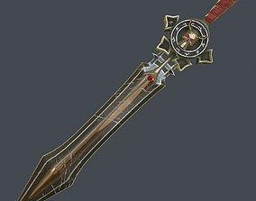 Fantasy sword 17 3d model VR / AR ready