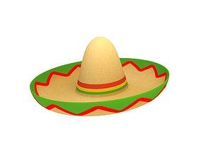 Mexican Hat 3D asset