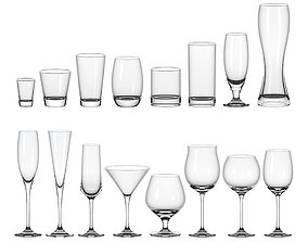 Set of glasses 3D drink