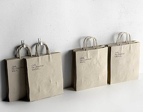 Recycled Paper Bag 3D model