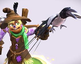 Cartoon Talking Scarecrow 3D model