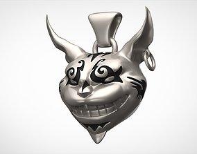 3D print model Cheshire Cat Pendant
