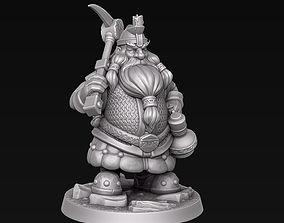 3D print model dungeonsanddragons Dwarf miner