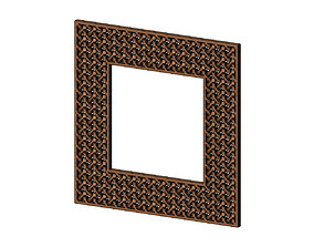 Moucharabieh mirror frame 3D printable model