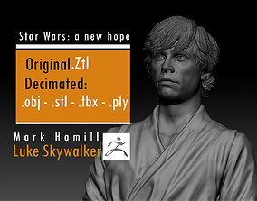 Mark Hamill - Luke Skywalker - Star Wars 3D print model 2