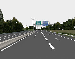 highway navigation 3D road exterior-public view