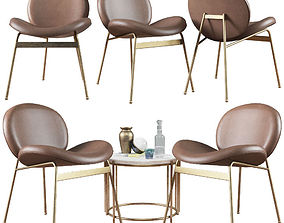 3D Lounge Chair Jane and Side Table Messina Nesting West