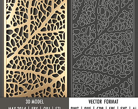 lattice Decorative pane 41 model and vector