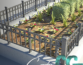 Fenced Planter Bed 3D model