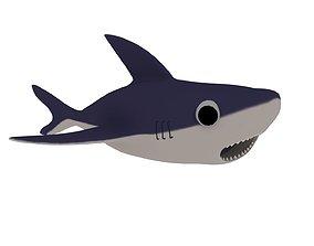 shark sealife 3D model low-poly