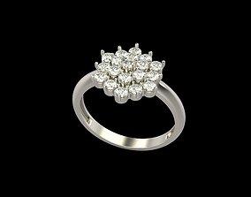Women pendant with gems 3dm stl jewel