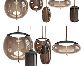 Scandinavian BROKIS Knot Pendant Lights low low-poly 2