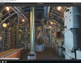 3D asset Classical Submarine With Interior Details and 2