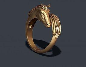 Horse ring rhino 3D print model
