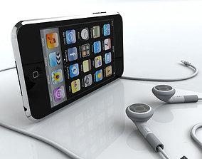 3D model Touch 2nd gen with Earphones