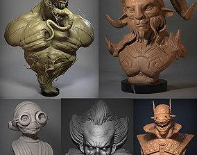 3D Monster 01 figurines