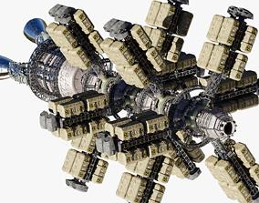 3D PBR Cargo Spaceship