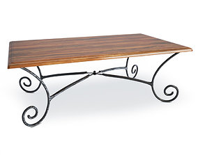 Luberon Wooden Coffee Table 3D