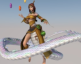 3D model NuWa Cute Action Girl