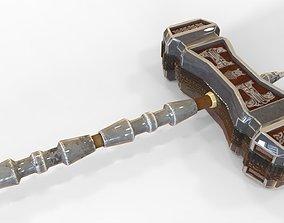 3D asset Dwarven Warhammer