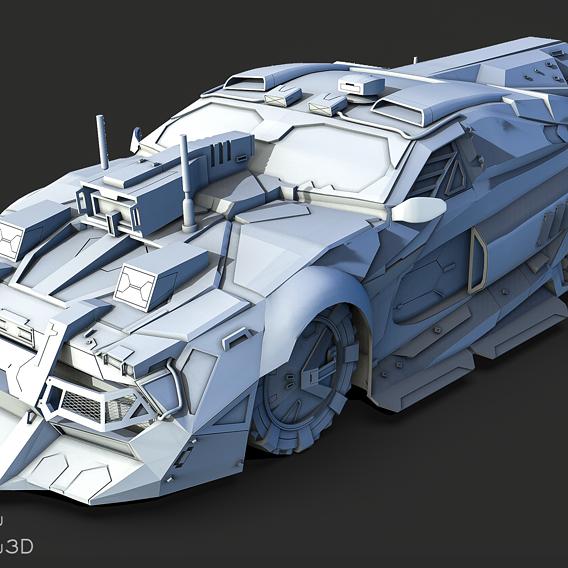 3D Speedy Car