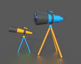 3D model telescope cartoon