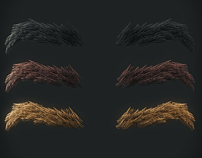 3D model Eyebrows Low Poly 3